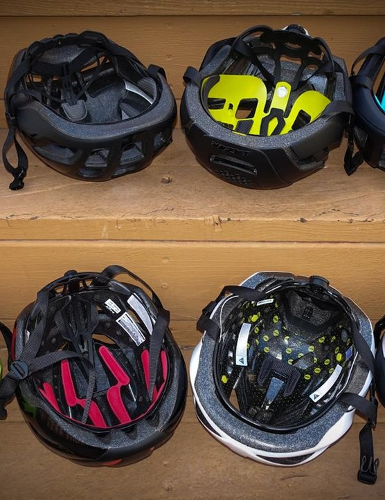 Five of the eight helmets tested had a rotational impact protection system inside