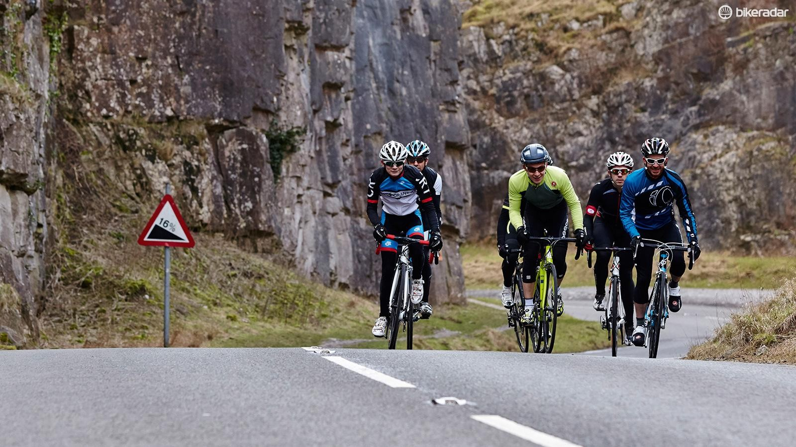 You'll go faster — even if it's only to the cake stop — if you ride in a group
