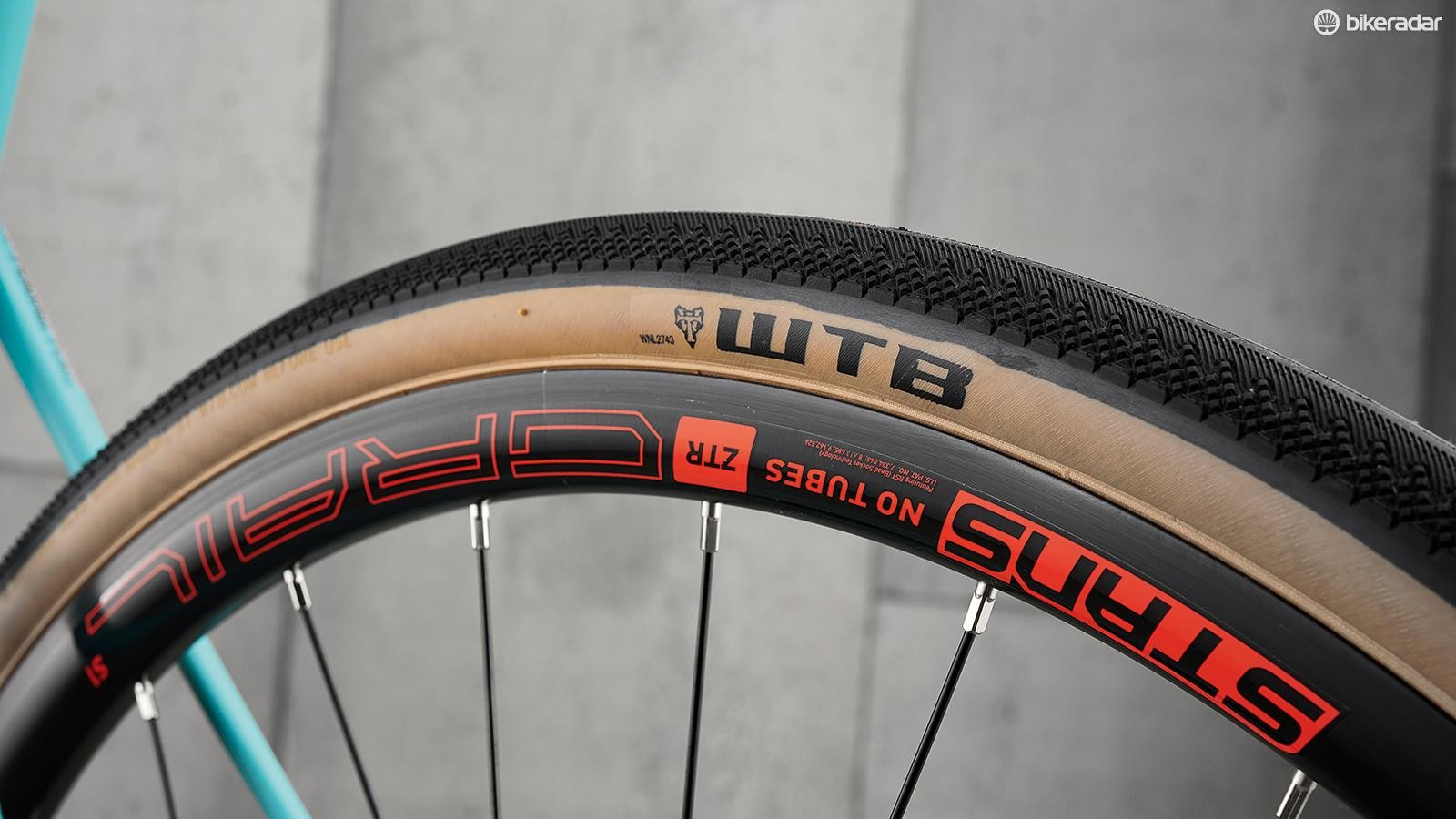 WTB tyres are almost slick in comparision with the more rugged rubber on the competition