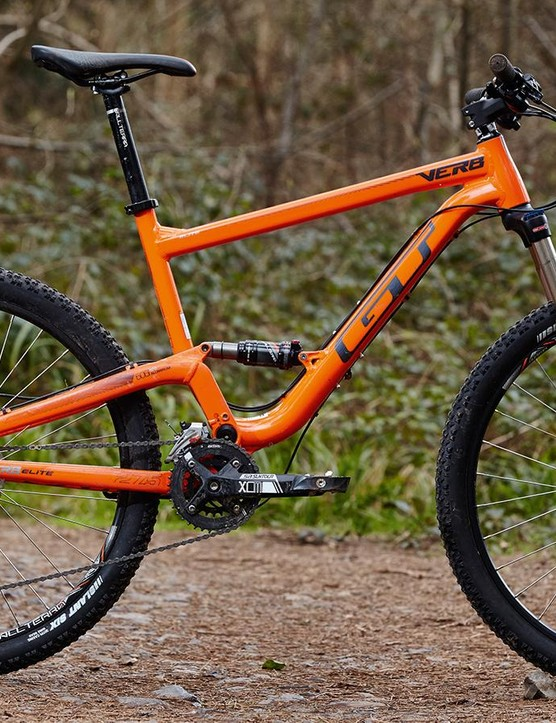 GT's Verb Elite looks the part but has been overtaken by the best full-suspension bikes in its class