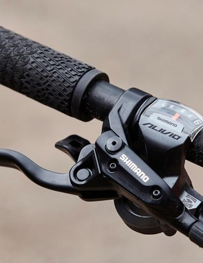 You only get nine speeds from the Alivio drivetrain