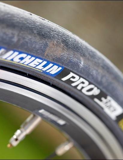 Michelin Pro Race tyres are a bonus