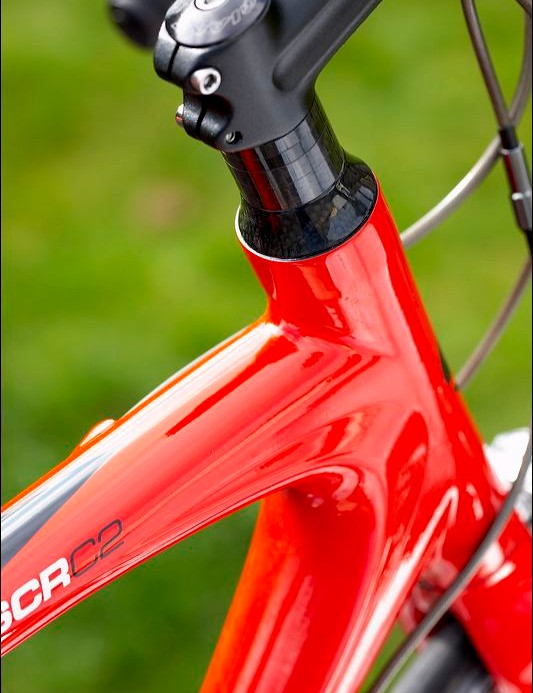 Extended head tube and plenty of spacers