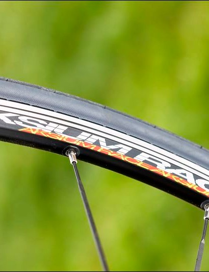 Mavic Aksium Race wheels  are a  slightly disappointing spec.