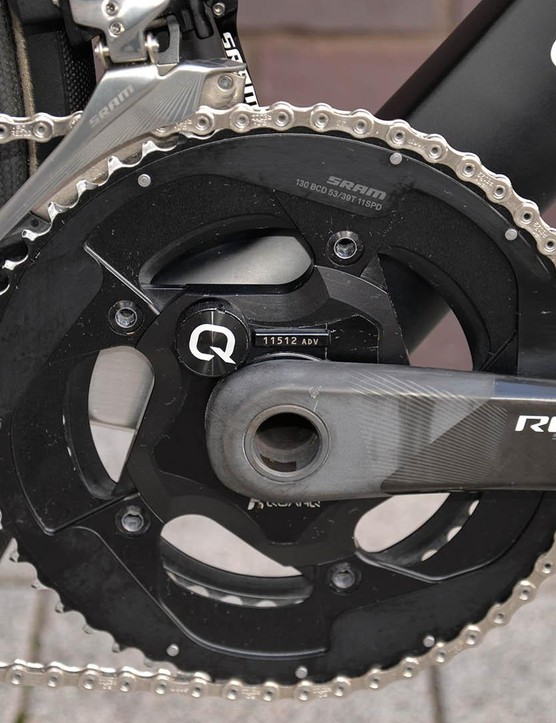 The Aeroad is fitted with a Quarq power meter