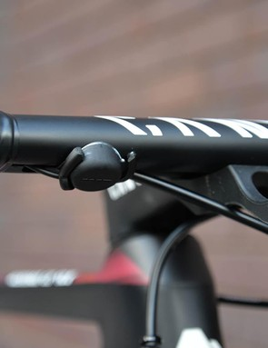 Guarischi has remote Blip shifters on the underside of her bars