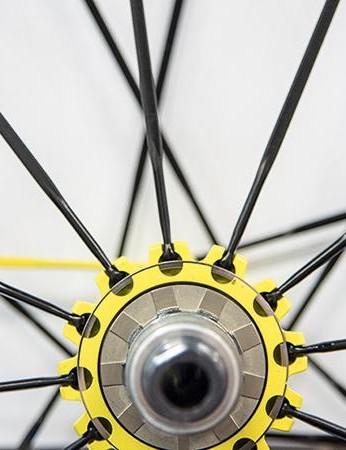 4. Mavic's Isopulse pattern improves the spoke angle to ease the load on the driveside spokes