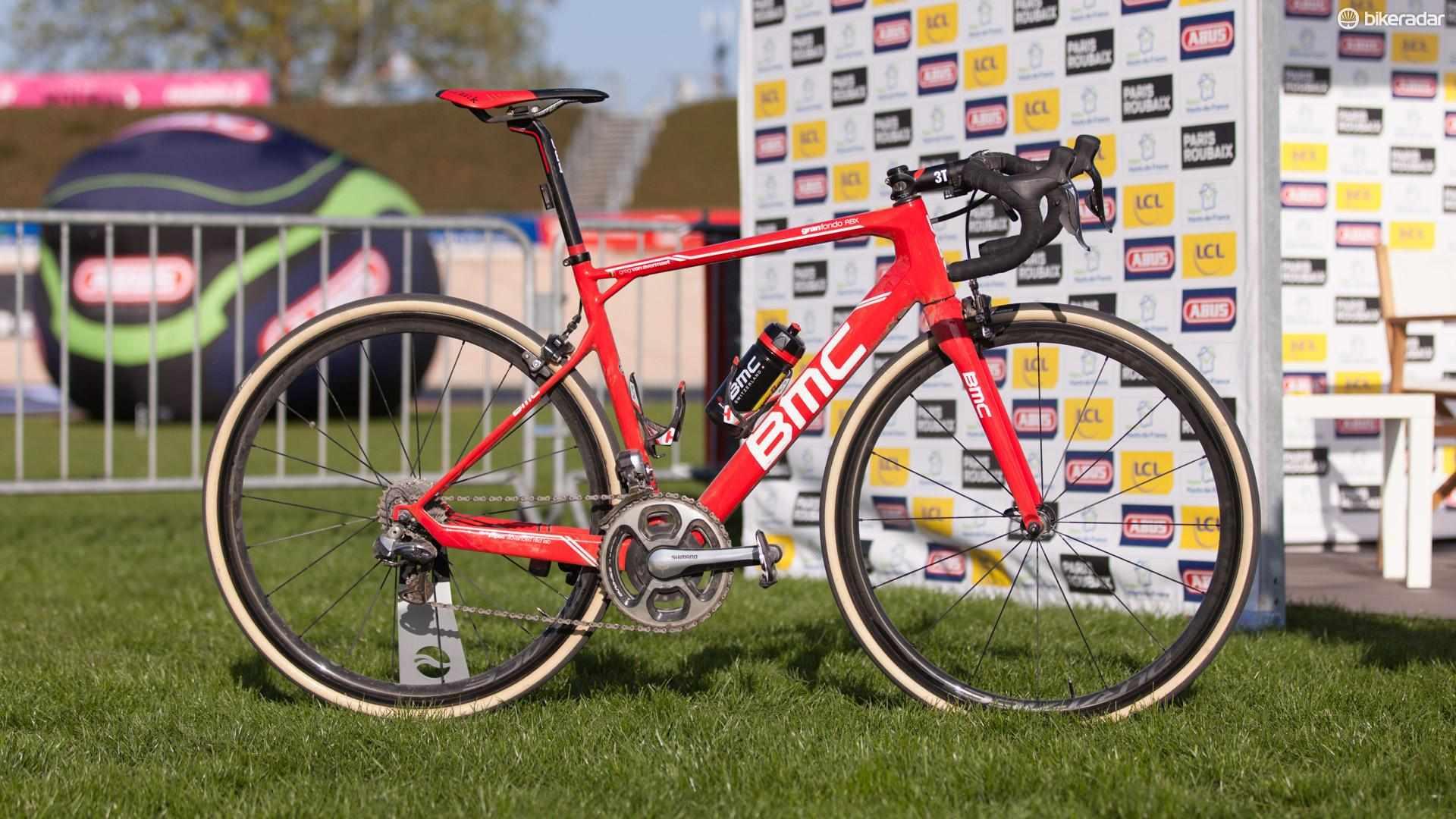 Greg Van Avermaet piloted his #2 BMC Granfondo RBX to victory inside the old Roubaix velodrome