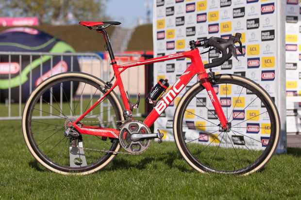 Greg Van Avermaet piloted his #2 BMC Granfondo RBX to victory inside the old Roubaix velodrome