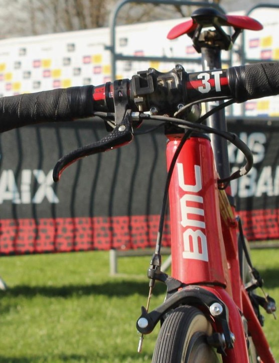 Paris-Roubaix is an unusual race with unusual bike setups, such as the use of a single top-mounted brake lever