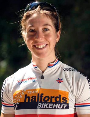 British champion Nicole Cooke (Halfords Bikehut)