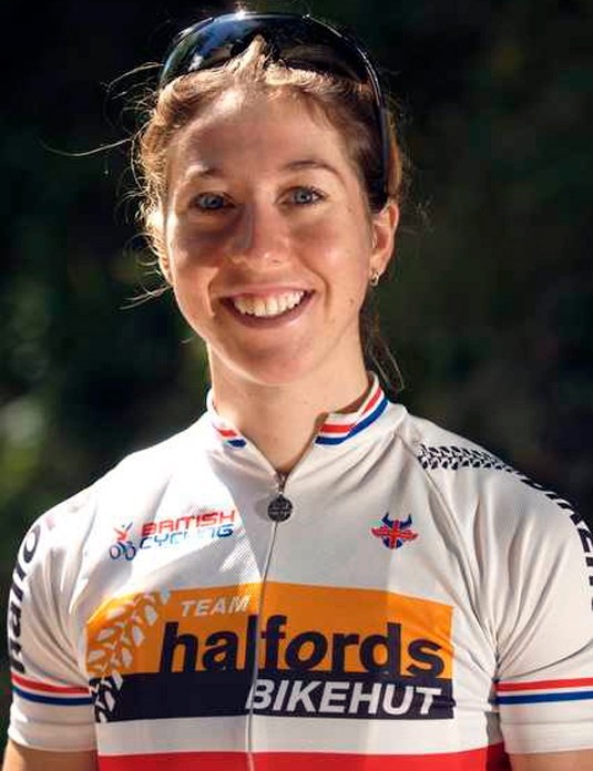 British champion Nicole Cooke (Halfords Bikehut)