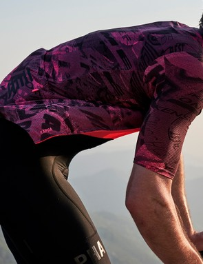 The collection features a graffiti inspired print on several of Rapha's established pieces