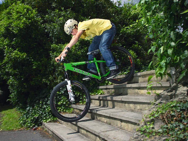 Rumbling down a flight of stairs is something most cyclists enjoy from time to time, but if you compare them to roots, the off-road benefits are clear.