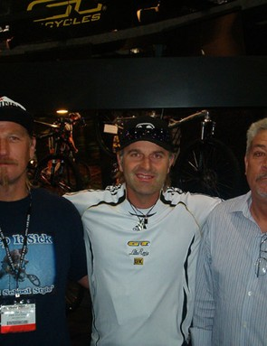 Andy Patterson (former BMX world champ), Rey, and Gary Turner, Interbike '07.