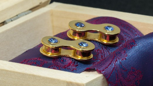 Gemstones in a selection of colours bedeck these cufflinks