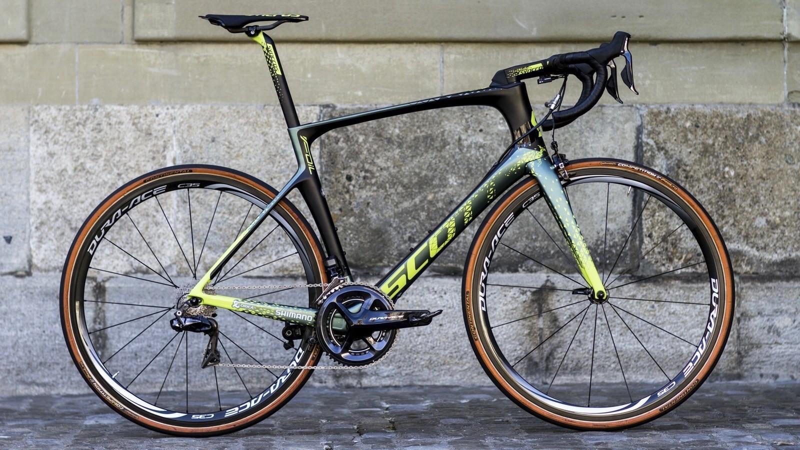 Mathew Hayman's special edition Scott Foil RC for Paris-Roubaix