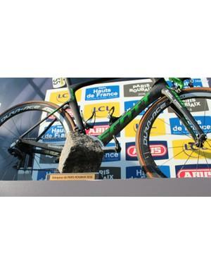 To the victor, the spoils. Mathew Hayman won the 2016 Paris-Roubaix aboard a Scott Foil