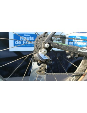 Hayman relied on Shimano Dura-Ace Di2, as did most riders on the dozen Shimano-sponsored teams at the race