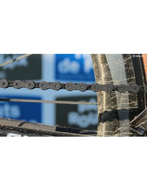 Tough day's work for a chain —and this was a dry year at Paris-Roubaix