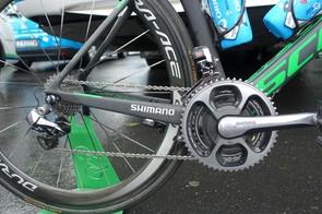 Hayman has a high-end but straightforward drivetrain set-up, with Shimano Dura-Ace Di2 and an SRM