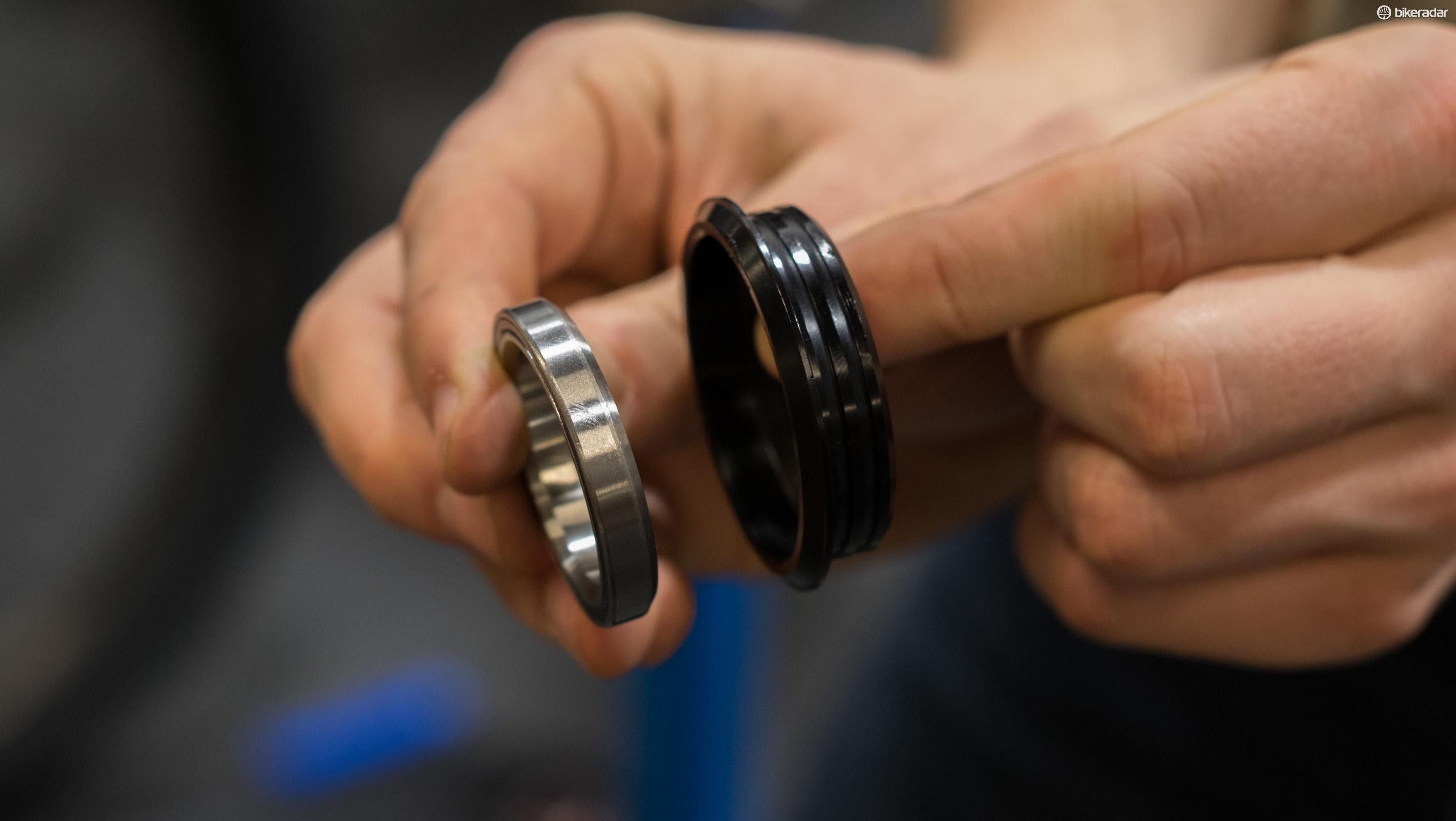 Older loose bearings rolled directly on the hardened steel race