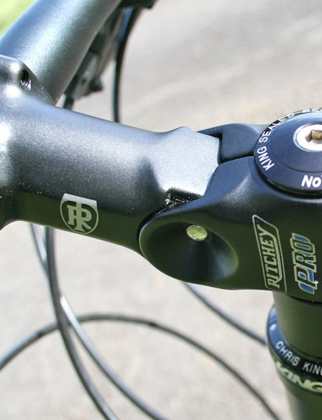 Adjustable Ritchey stem allows some variety in the handlebar height.