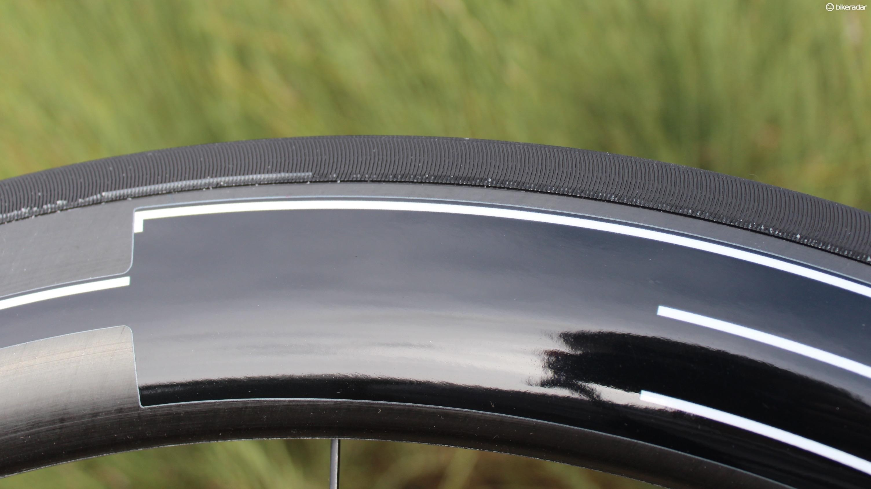 The machined brake surface makes stopping easy, in rain and on steep descents