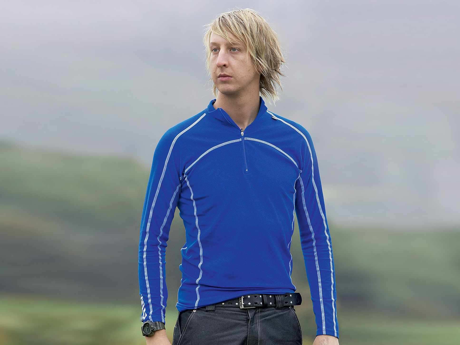 The Charger top can be used on its own in mild weather, or as a base layer.