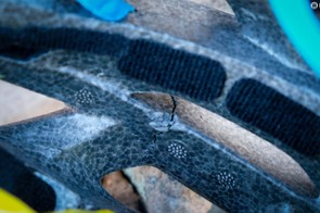 Not all crash damage is so obvious. Examine the interior of your helmet as well as the exterior on a regular basis for cracks, dents and other signs that it's time for a new lid