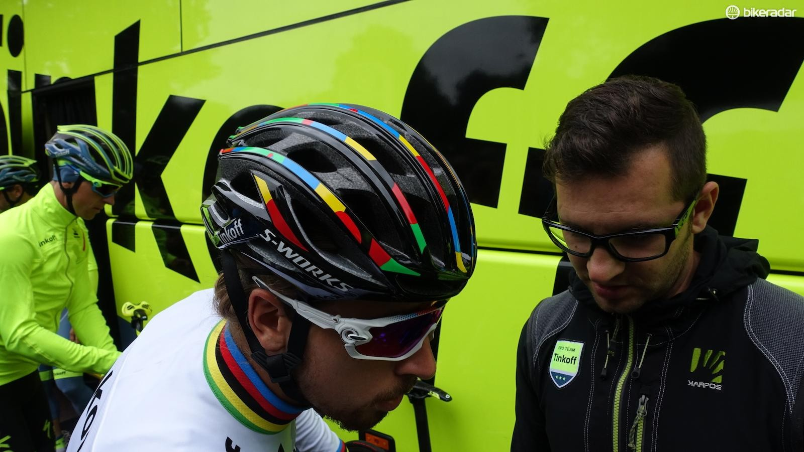 Specialized showed its new Prevail helmet to the world ahead of the Tour de France. Astana, Etixx-Quick Step and Tinkoff riders trained in the new lid in the days prior to the race