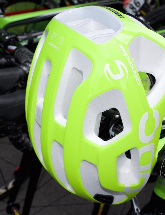 POC has produced a limited run of high-vis helmets and glasses to celebrate its 10th anniversary. The entire Cannondale-Drapac team was using them at the Tour