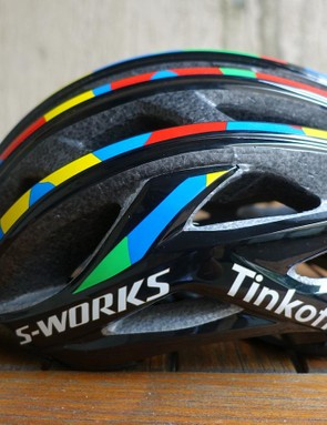 The new helmet is more rounded than its predecessor, with aero cues for a sleeker look