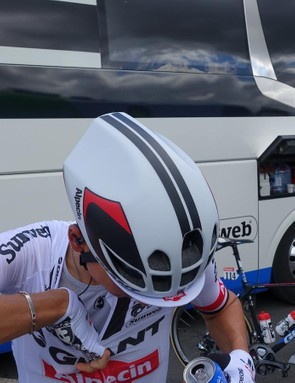 The rear of the helmet features two large dimples that help direct airflow