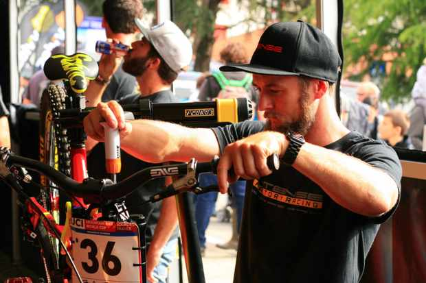 Chappie, Jack Moir's mechanic, is charged with keeping the Aussie rider's bike in top condition