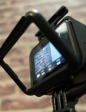 The included frame allows for clear audio recording