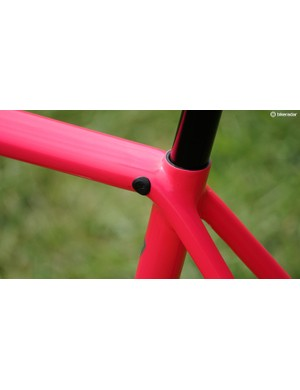 Hidden seatpost clamps are awesome if they work and don't fall in the frame - no issues so far