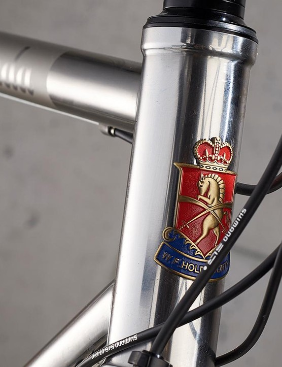 The Holdsworth badge is a sign of the bike's heritage