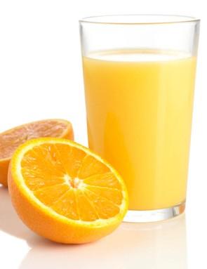 Fruit juices like orange juice are packed full of useful fruit sugars for energy on the go