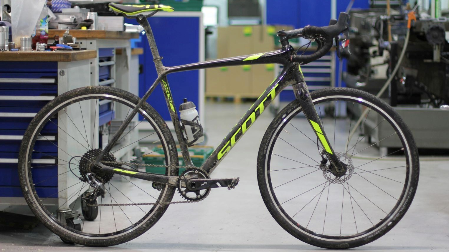 This year's 3 Peaks winning bike — the Scott Addict CX