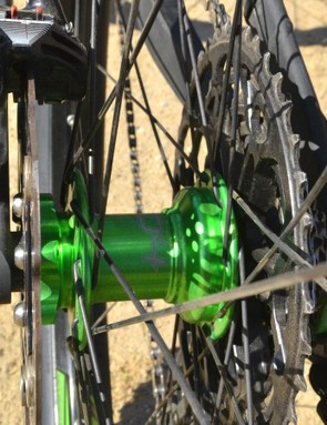 In development long before Boost rear spacing, Hope's 130 x 17mm rear hub builds up a dishless rear wheel.