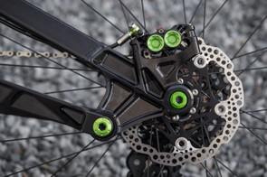 Tried and tested. Hope's Tech 3 E4 brakes come as standard aboard the HB.160