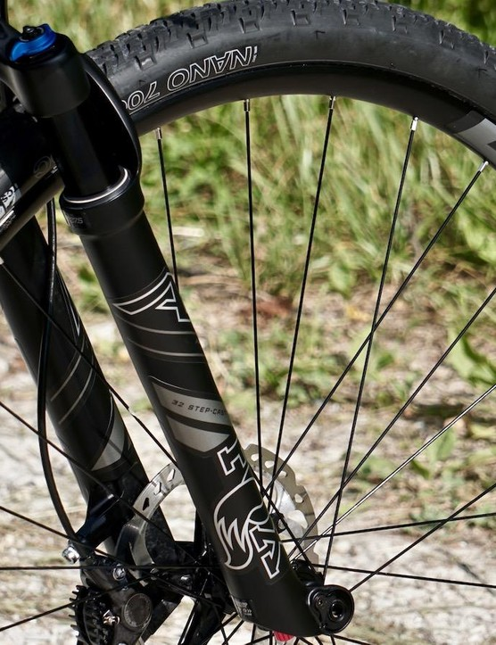 Despite significant damage to the front rim in a river crossing, the Easton AX wheels kept rolling for another 60 miles