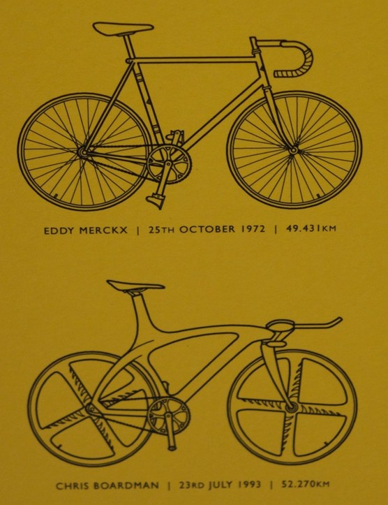 Eddy Merckx's steel-framed track bike is interesting for sure, but it's Chris Boardman's Lotus 110 that we like best