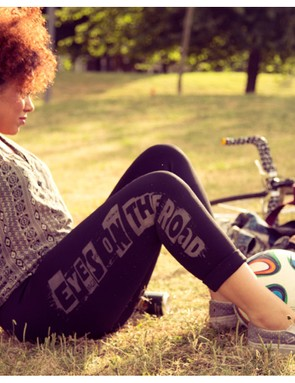The House of Astbury 'eyes on the road' leggings, which have a reflective print, are our favourite product from the line