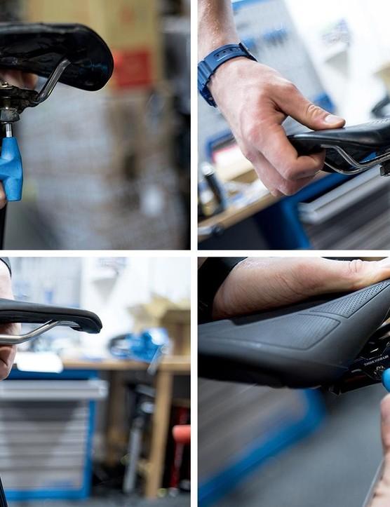 Adjust the saddle angle of your mountain bike