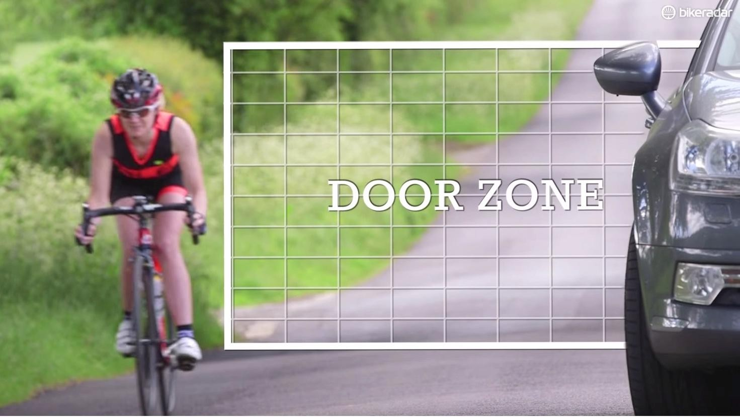 Be vigilant for potential hazards – the door zone is a big one
