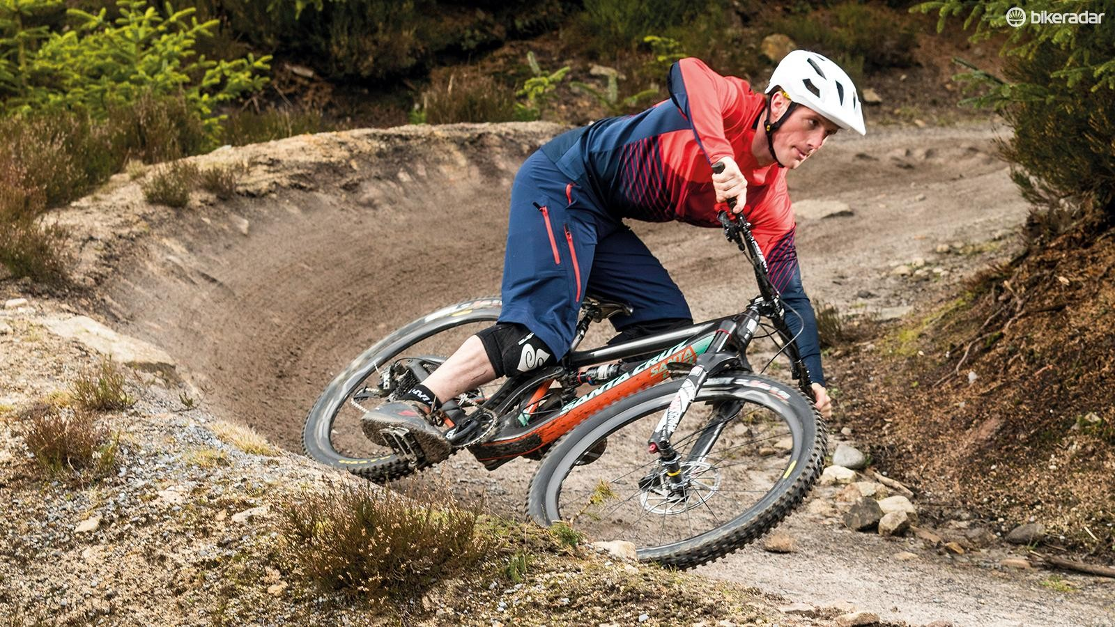 If a berm is fast and tight, it's better to carve it than to try and rail it