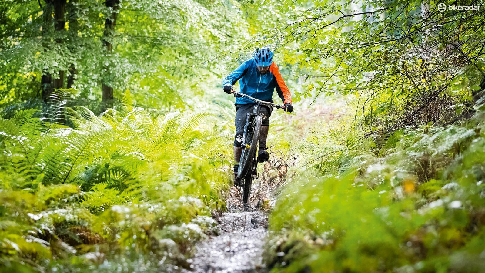 Wet trails can be tricky to handle