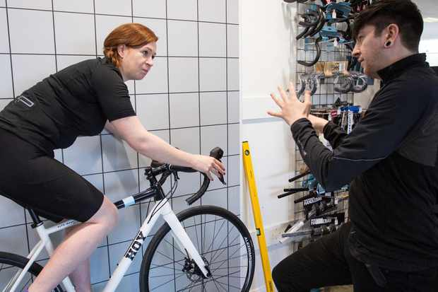 The bike fit process is part and parcel of buying a Hoy bike from Evans cycles, for those who want it